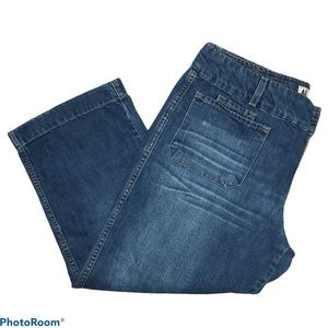 American Eagle Jean wide leg capris Size 14